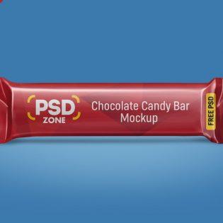 Free Candy Bar Mockup PSD