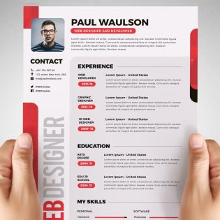 Free Designer Resume Template PSD