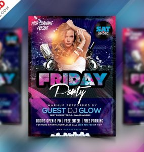 Friday Night party Flyer Template PSD