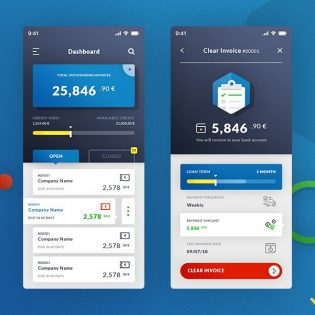 Invoice Manager App UI PSD