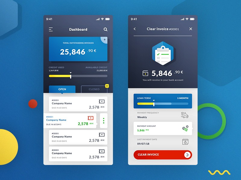 Invoice Manager App Ui Psd Download Psd