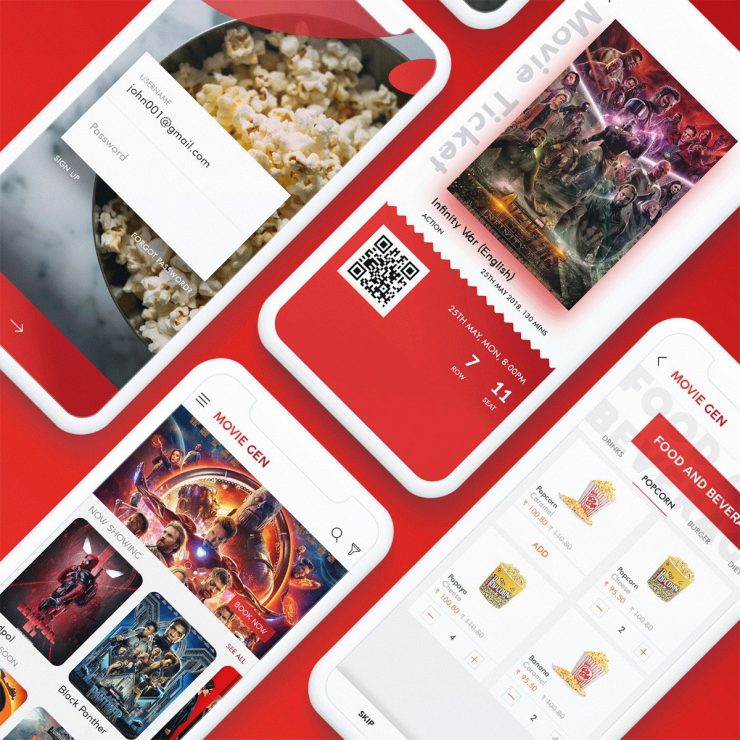 Movie Ticket Booking App UI Template