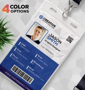 Office Identity Card Design Template