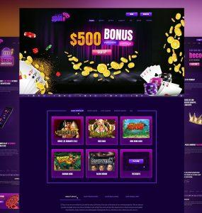 Online Casino & Gambling Website Template PSD