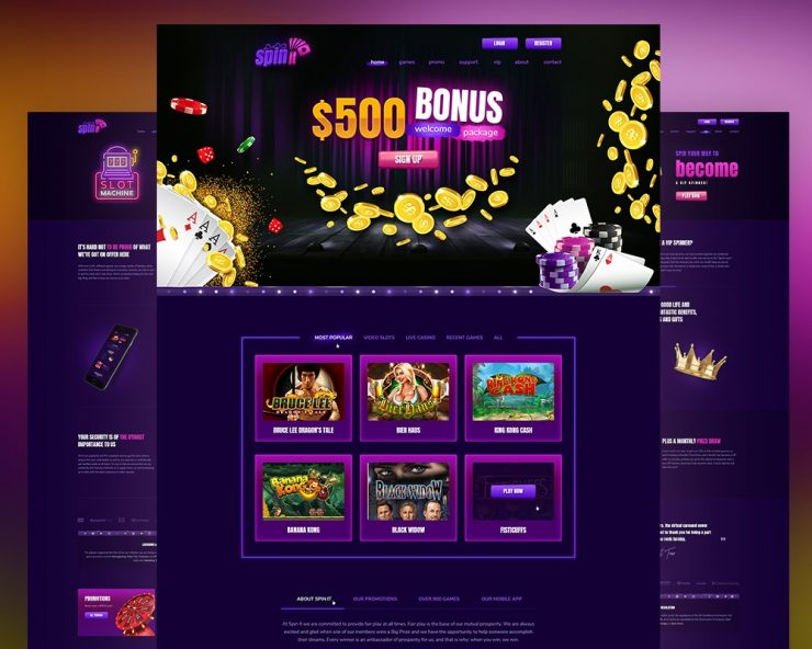 Online Casino & Gambling Website Template PSD