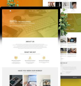 Single Page Website Template PSD