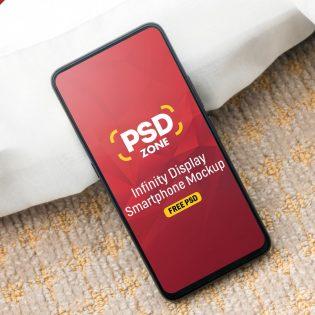 Bezel Less Smartphone Mockup PSD