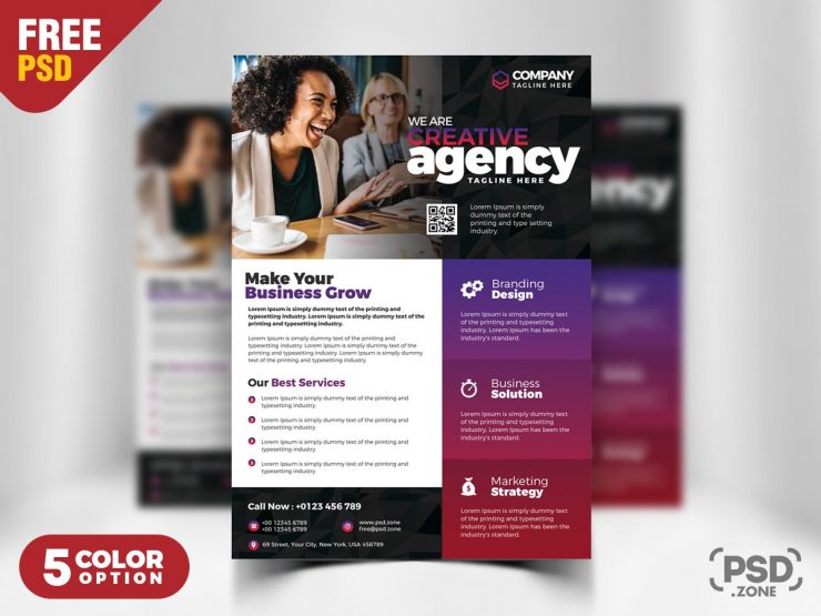 Creative Agency Flyer PSD Template