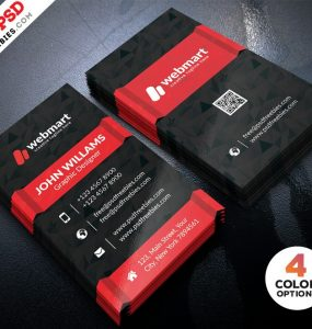 Dark Business Card Design Template PSD