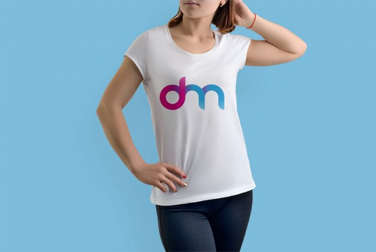 Female T-Shirt Mockup Template