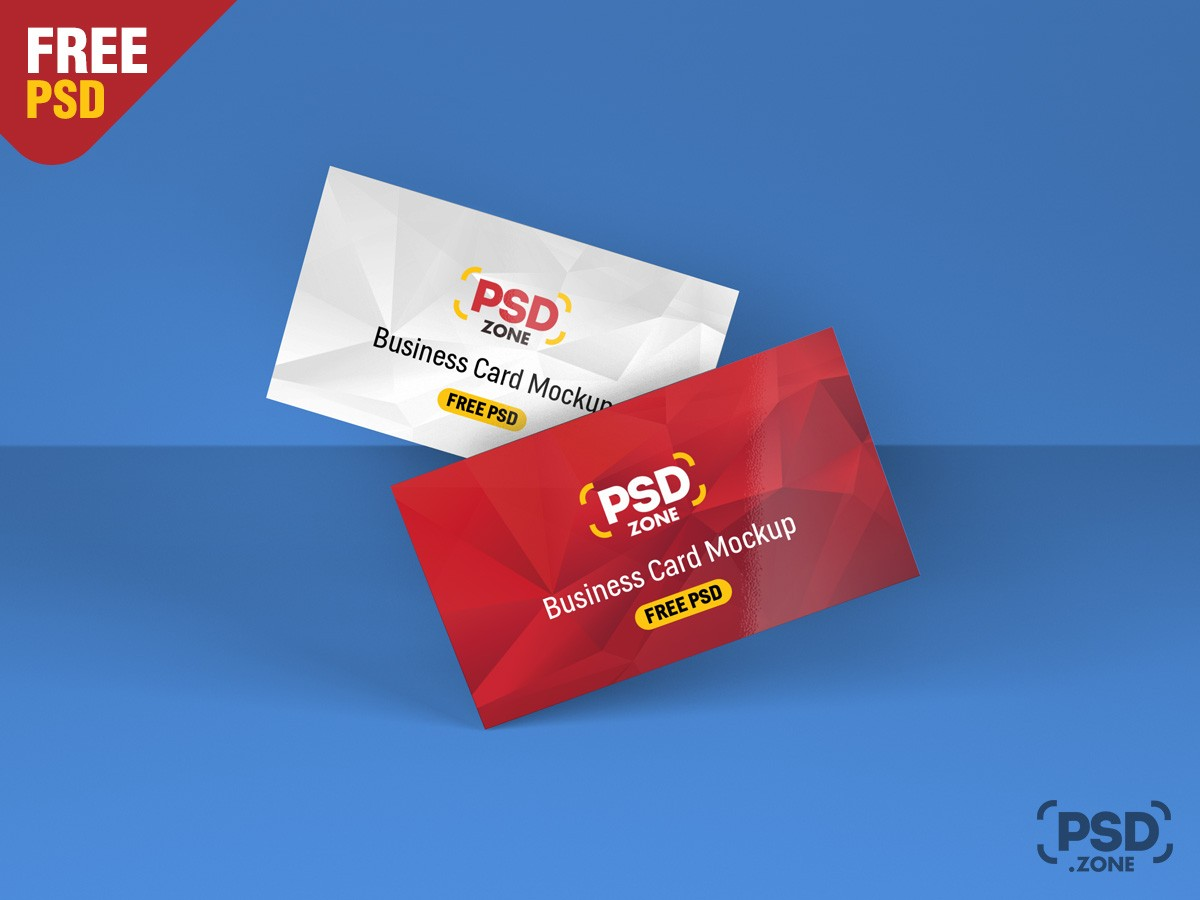 Floating business card mockup template download psd floating business card mockup template wajeb Gallery