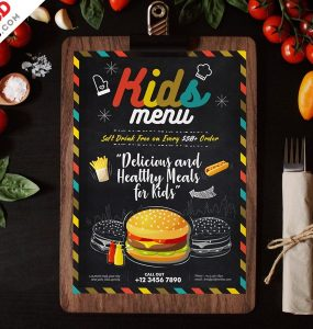Food Menu Design Template PSD