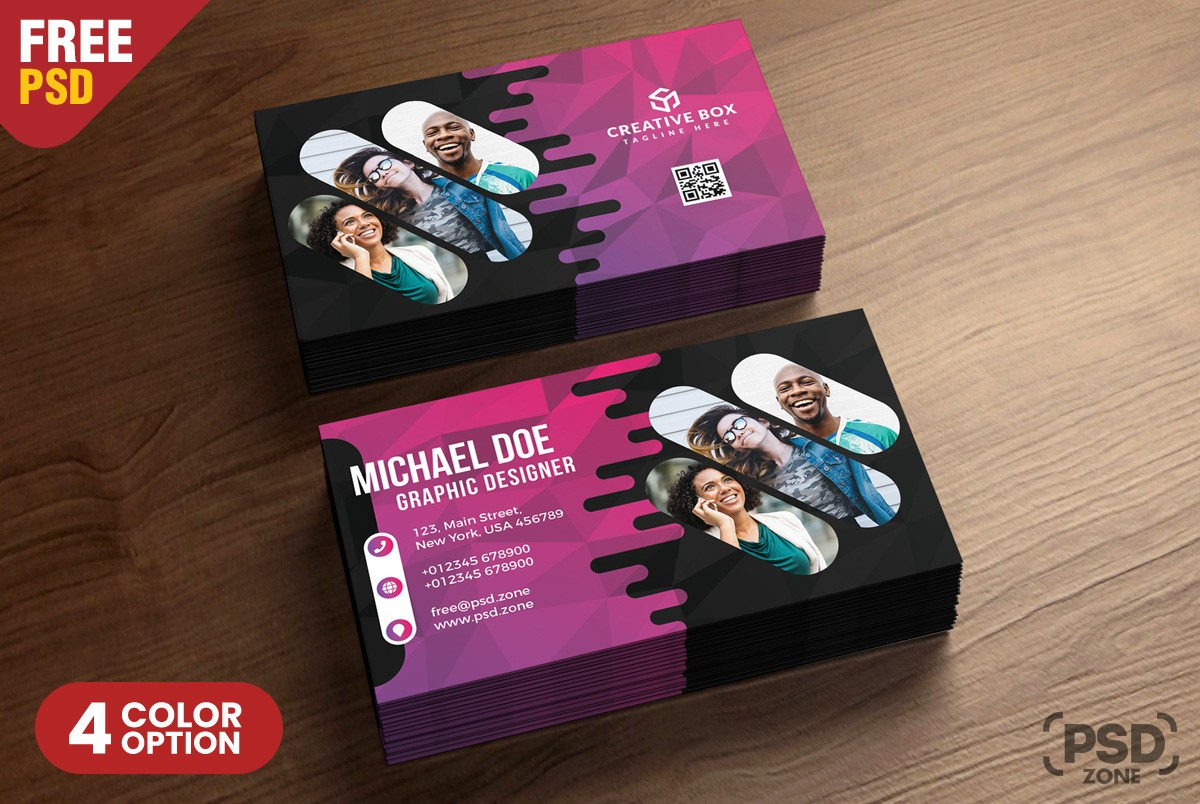 free creative business card psd template download psd