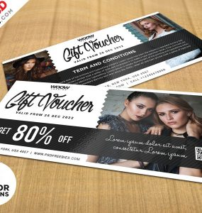 Free Gift Voucher Design Template
