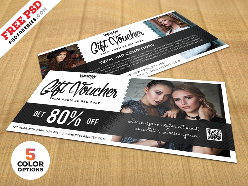 free gift voucher design template download psd
