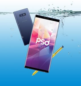Galaxy Note 9 Mockup PSD