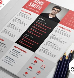 Graphic Designer Resume PSD Template