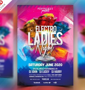 Ladies Night Party Flyer Template PSD
