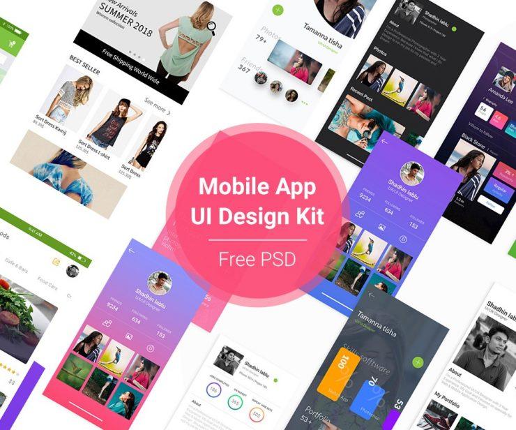 Mobile App UI Design Kit