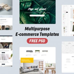 Multipurpose E-commerce Template PSD