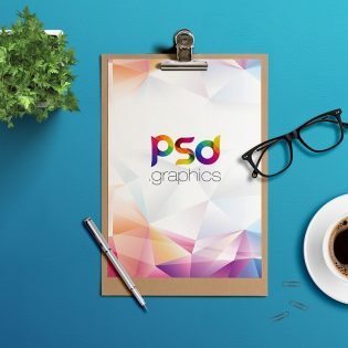 Paper Clipboard Mockup PSD