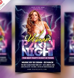 Party Night Flyer PSD Template