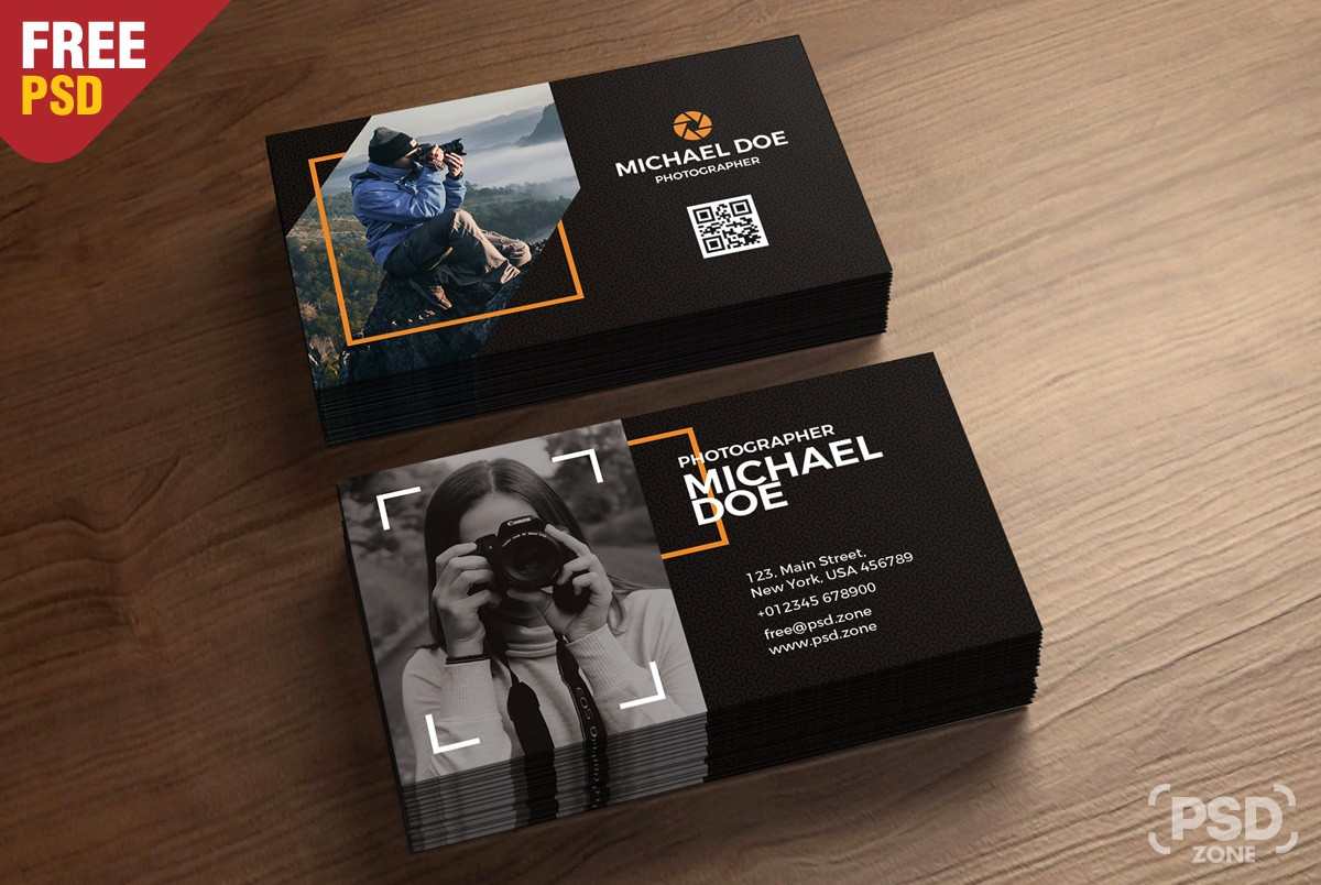 Photographer business card template download psd photographer business card template cheaphphosting Choice Image
