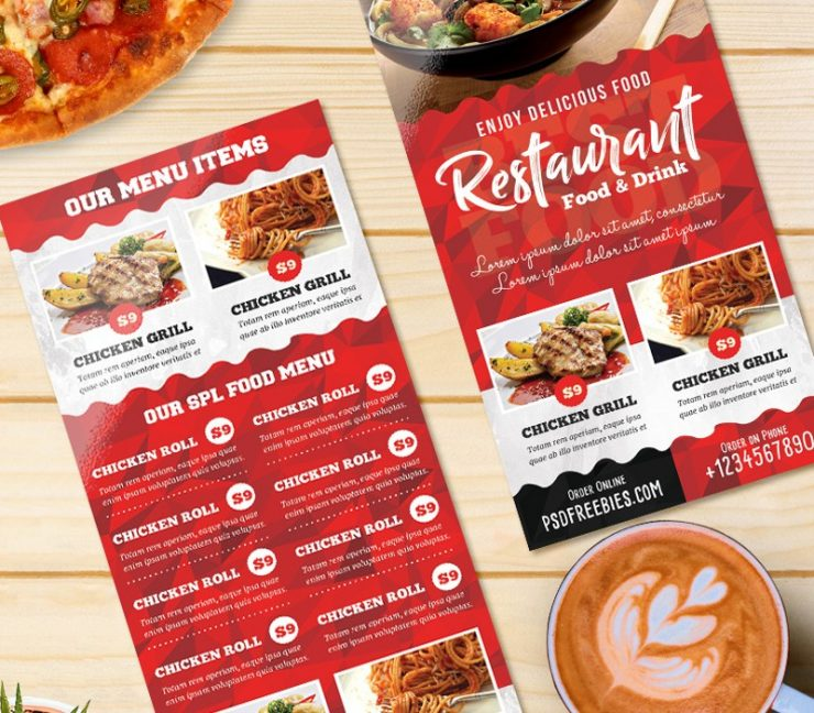 Restaurant Food Menu Card Template PSD