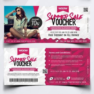 Sale Discount Voucher Template PSD