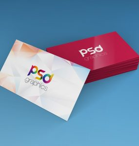 Stack of Business Card Mockup Template