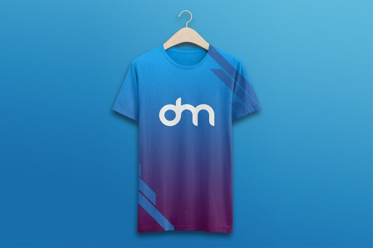 T-Shirt on Hanger Mockup PSD