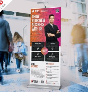 Business Roll-up Banner Template PSD