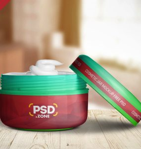 Cosmetic Cream Jar Packaging Mockup