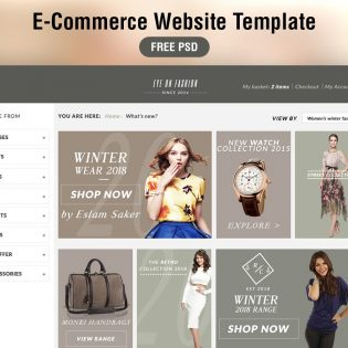 E-Commerce Website PSD Template