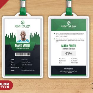 Free Identity Card Design Template PSD