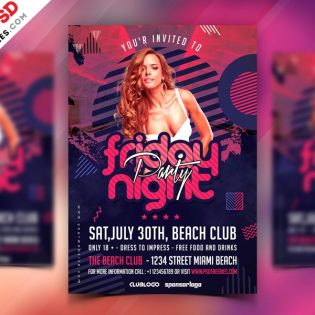 Friday Night Party Flyer Template