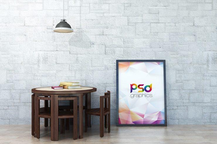 Large Poster Frame Mockup