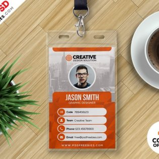 Office ID Card Design PSD Template