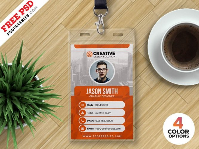 Office ID Card Design PSD Template