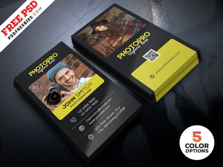 Photographer Business Card Design Template