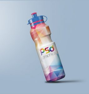 Sports Sipper Bottle Mockup PSD