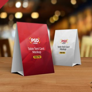 Table Tent Card Mockup Template
