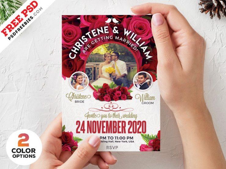 Wedding Invitation Card Design Template