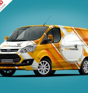 Cargo Van Branding Mockup PSD