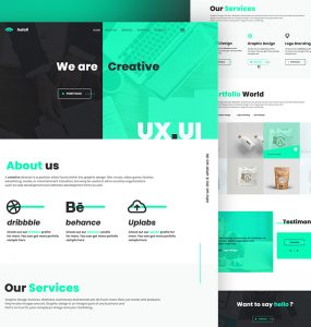 Creative Agency Website Landing Page Template