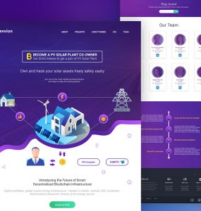 Cryptocurrency ICO Website Template PSD