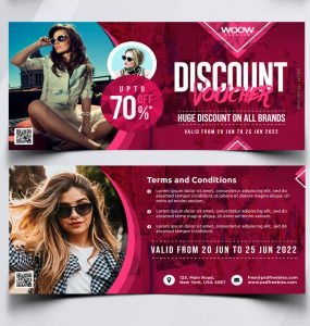 Free Discount Voucher Design Template