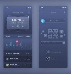 Free Mobile Wallet App UI PSD