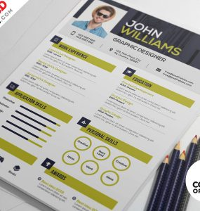 Graphic Design Resume PSD Template