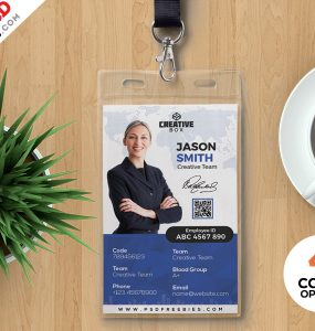 Photo ID Card Template PSD